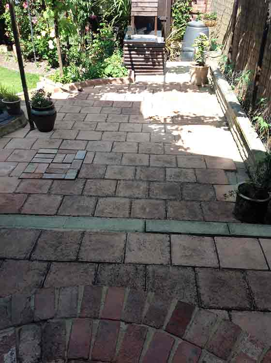 Patio before cleaning with Centrecoat GS36