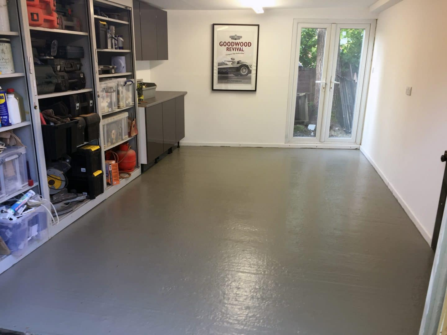 In The Workshop Painting Floors With Epoxy Garage Floor Paint Promain Resource Centre