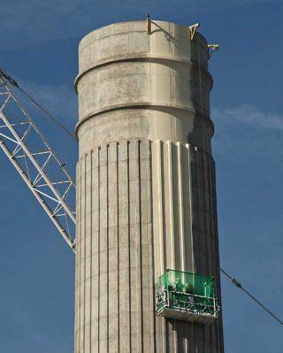Battersea Power Station Paint Chimneys