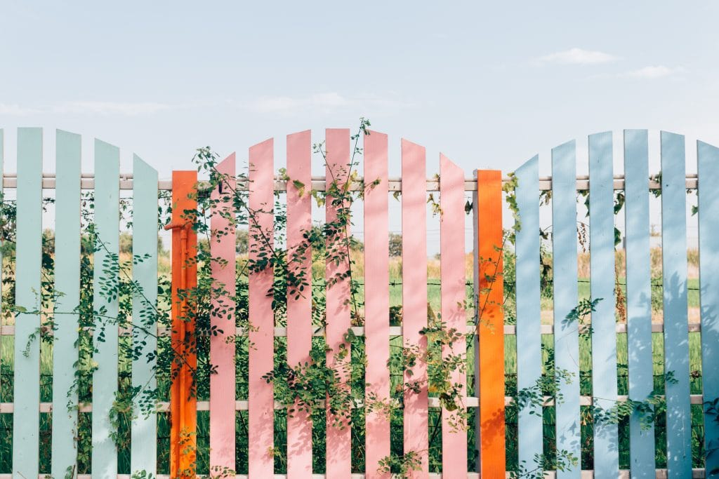 Coloured Fence 1