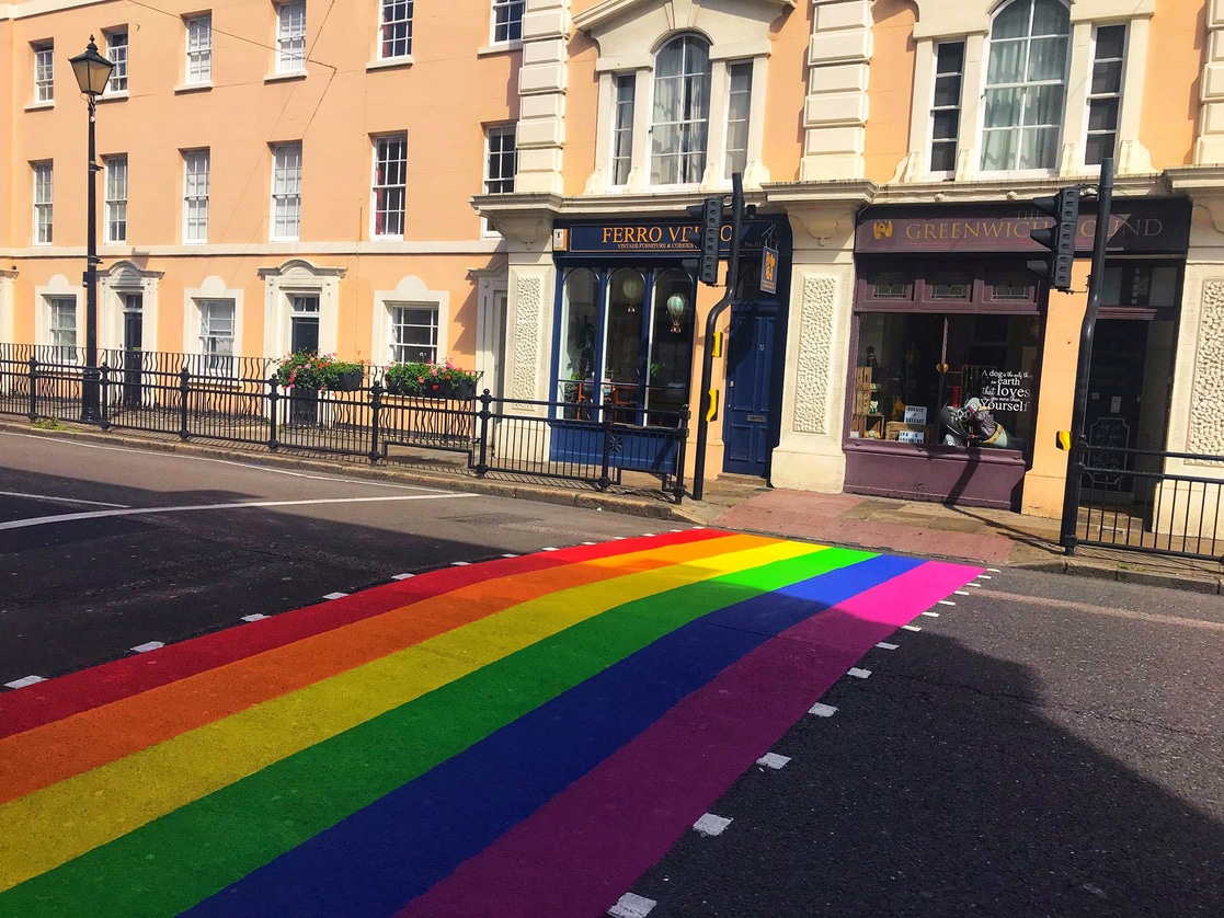 College Station Ford >> Pride Crossings Paint - Rainbow Road Marking In Greenwich ...