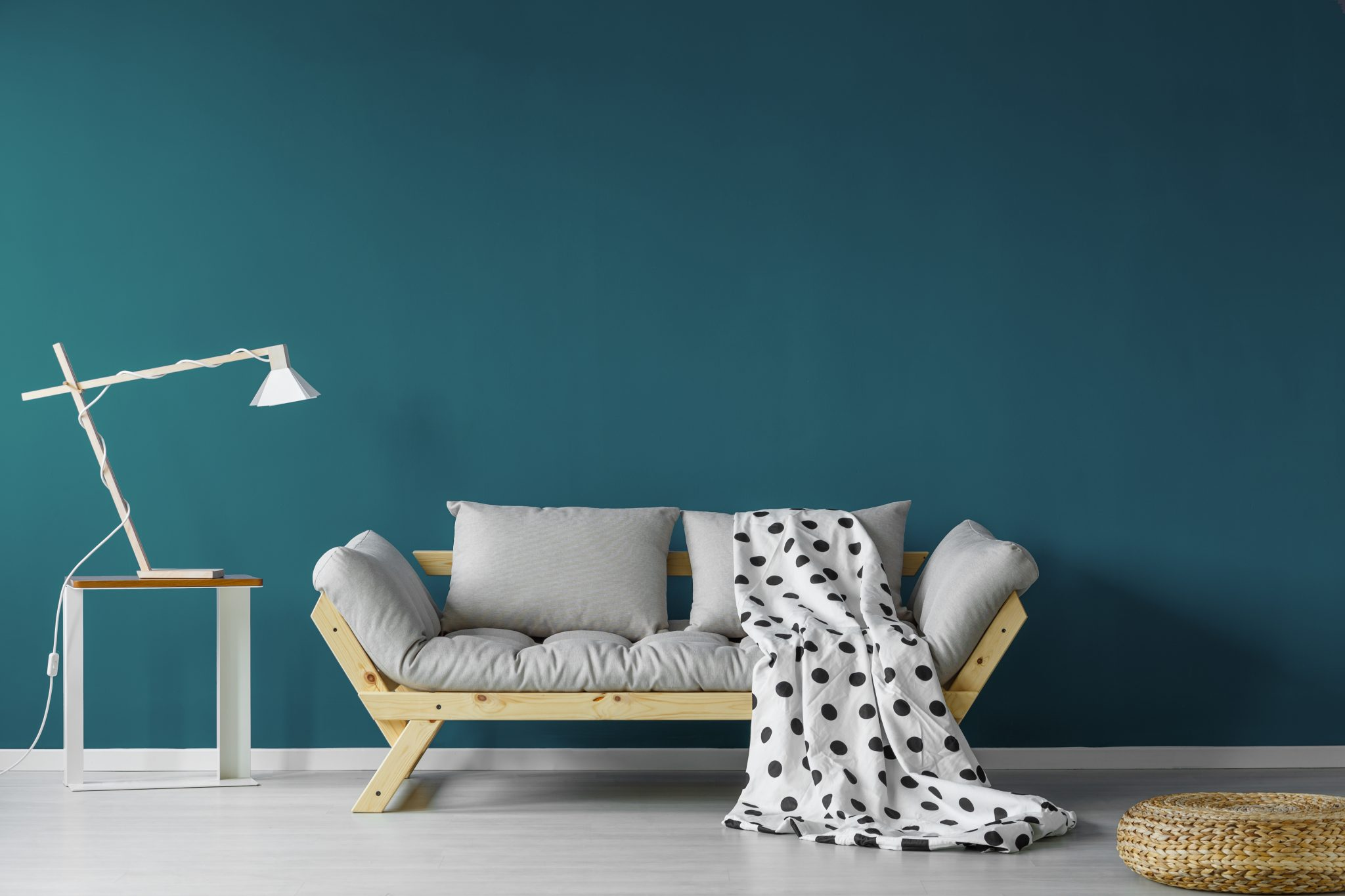 teal paint feature walls