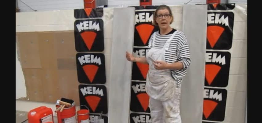 Keim Concretal Lasur Application with Nicola Young, Senior Colourist