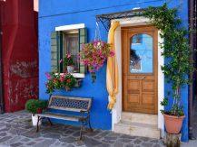 blue masonry paint