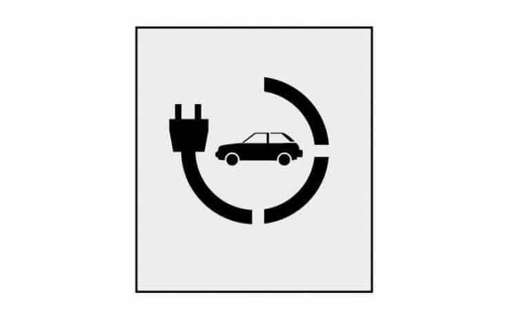 Electric Car Charging stencil