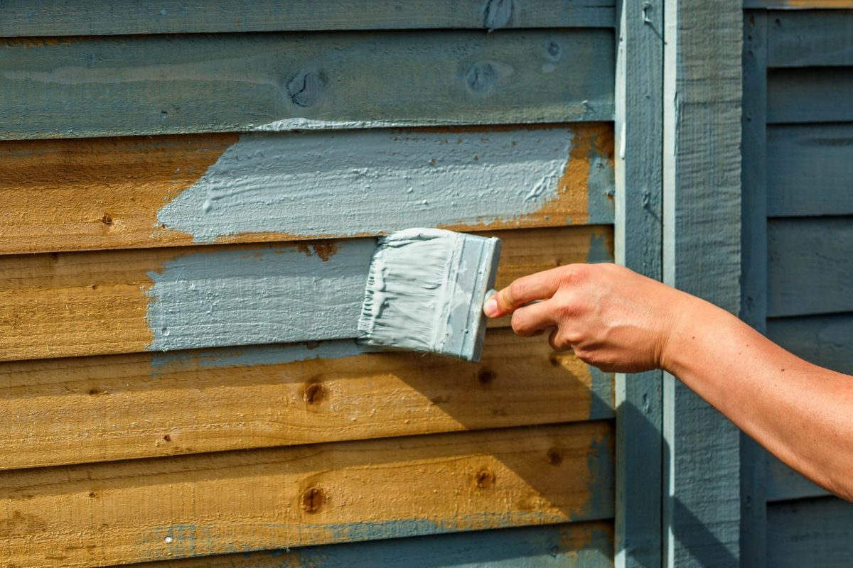 grey fence paint