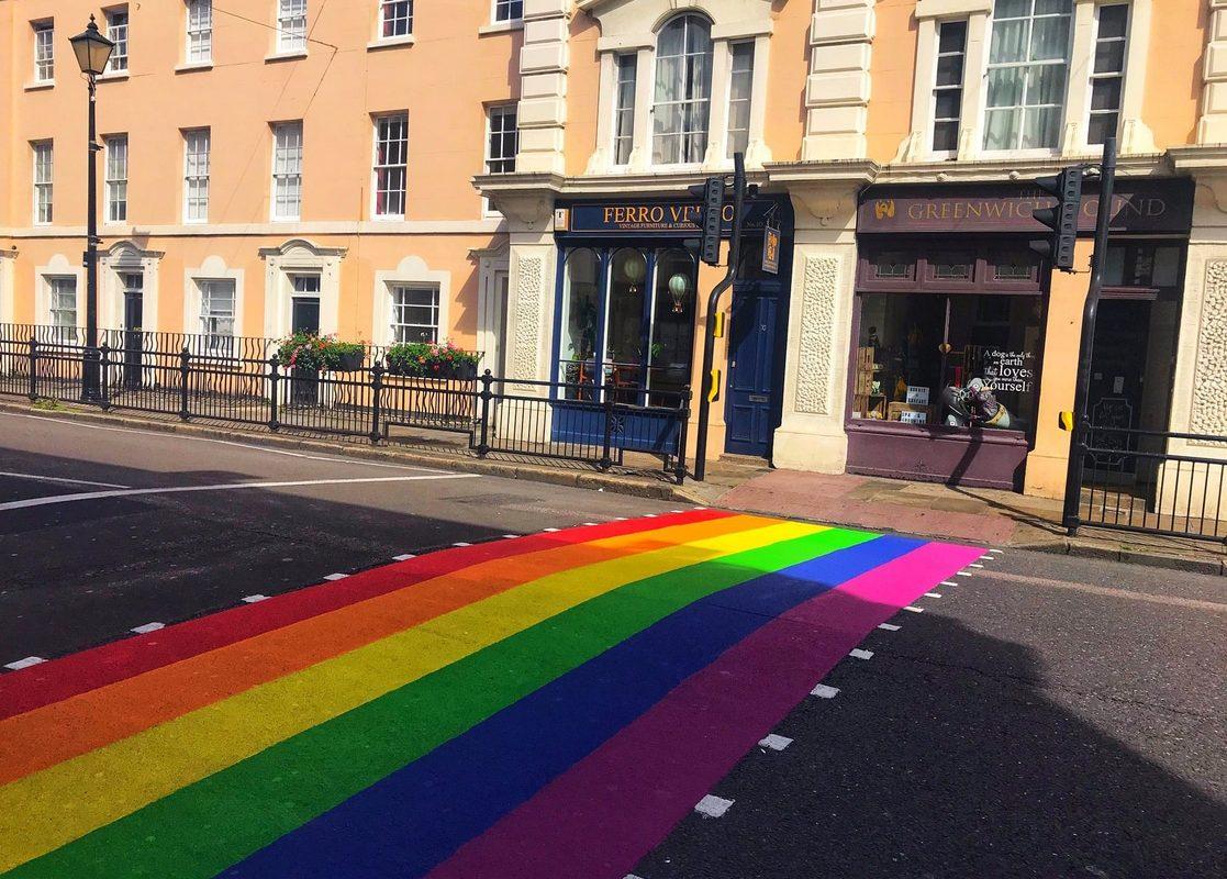 Pride Crossing In Greenwich, London