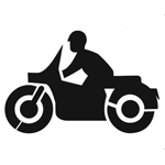 Motorcycle Parking Stencil