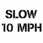 Slow 10 Mph Stencil