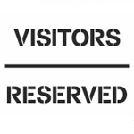 Visitors Reserved Stencil