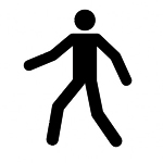 Walking Man Stencil
