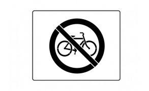 Centrecoat Industrial Road Stencil, No Bicycles