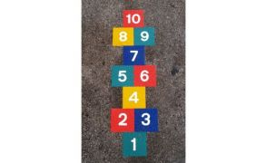 Centrecoat Thermoplastic Hopscotch Game
