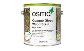 Osmo Opaque Gloss Wood Stain (2104 White)