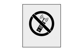 Rustoleum Marking Stencil, Mobile Phones Prohibited