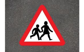 Centrecoat Thermoplastic Children Crossing Warning