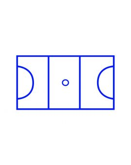 Centrecoat Thermoplastic Netball Court
